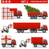 Vector Christmas Delivery Set 1. On white background Stock Image