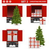 Vector Christmas Delivery Set 2. On white background Stock Images