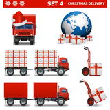 Vector Christmas Delivery Set 4 Royalty Free Stock Photography