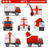 Vector Christmas Delivery Set 5 Stock Photography