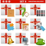 Vector Christmas Delivery Set 8 Royalty Free Stock Image