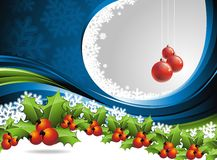 Vector Christmas design with hollys Stock Images