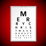Vector Christmas eye test chart as xmas card Stock Photography