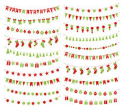 Vector christmas festive garlands Royalty Free Stock Photo