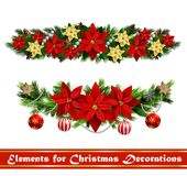 Vector Christmas Fir Decoration isolated. Vector Christmas Fir Decoration set isolated on white background Stock Photo