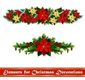 Vector Christmas Fir Decoration isolated. Vector Christmas Fir Decoration set isolated on white background Royalty Free Stock Image