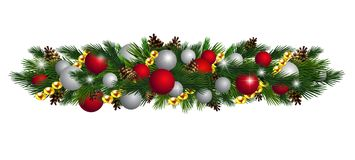 Vector Christmas Fir Decoration isolated. On white background Stock Images