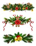 Vector Christmas Fir Decoration isolated. Vector Christmas Fir Decoration set isolated on white background Stock Photography
