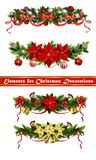 Vector Christmas Fir Decoration. Set  on white background Stock Image