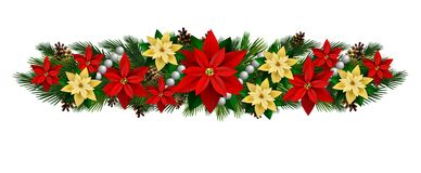 Vector Christmas Fir Decoration. On white background Stock Photos