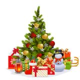 Vector Christmas Fir Tree. Isolated on white background Stock Photo