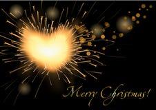 Vector christmas firecracker Royalty Free Stock Image