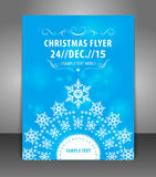 Vector Christmas Flyer Poster Template Stock Photography