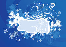 Vector christmas frame blue Royalty Free Stock Photo