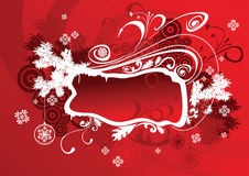 Vector christmas frame red Stock Photos
