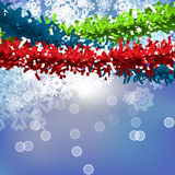 Vector Christmas Garland Background Stock Photography