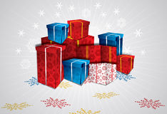 Vector christmas gift box Royalty Free Stock Photos