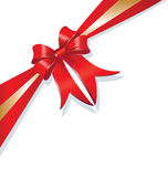Vector Christmas gift ribbon design Stock Photography