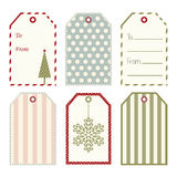 Vector Christmas gift tags. Royalty Free Stock Images