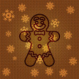 Vector Christmas Gingerbread. Vector Christmas Background with Gingerbread Stock Photo