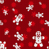 Vector Christmas Gingerbreds. Vector Christmas Background with Gingerbreds Royalty Free Stock Image