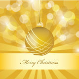 Vector christmas golden background. Decorative Christmas background card design Stock Images