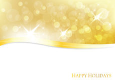 Vector christmas golden background. With lights Royalty Free Stock Photo