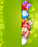 Vector Christmas green background Stock Images