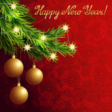 Vector christmas greeting background Stock Images