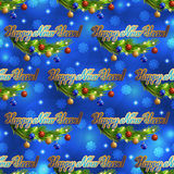 Vector christmas greeting background. Illustration. Christmas seamless snowflakes background with inscription Royalty Free Stock Photos