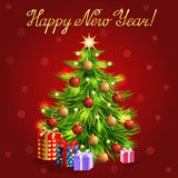 Vector christmas greeting background Stock Photos