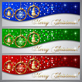 Vector Christmas Greeting Banner Set Stock Images