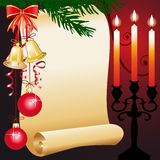 Vector christmas greeting card Royalty Free Stock Photography