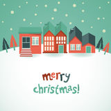 Vector christmas greeting card Stock Photography