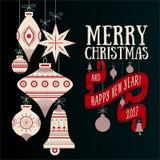 Vector Christmas greeting card Stock Photo