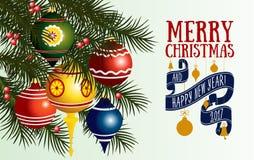 Vector Christmas greeting card Royalty Free Stock Photo