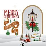 Vector Christmas greeting card Royalty Free Stock Image