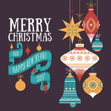 Vector Christmas greeting card Stock Photography