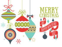 Vector Christmas greeting card Stock Images