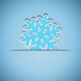 Vector christmas greeting card. Vector christmas blue greeting card with place for text and snowflake Royalty Free Stock Photos
