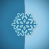 Vector christmas greeting card. Vector christmas blue greeting card with place for text and snowflake Stock Images