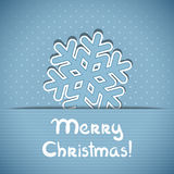 Vector christmas greeting card. Vector christmas blue greeting card with place for text and snowflake Royalty Free Stock Photography