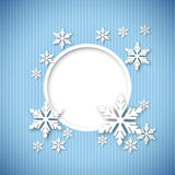Vector christmas greeting card. Vector christmas blue greeting card with place for text and snowflakes Stock Images