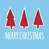 Vector Christmas greeting card design. Stock Photography
