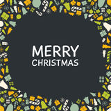 Vector Christmas greeting card design. Royalty Free Stock Photo
