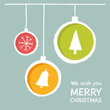Vector Christmas greeting card design. Stock Photo