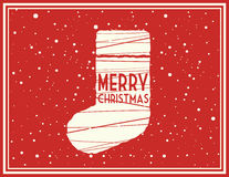 Vector Christmas greeting card. Vector Christmas illustration for sending greetings to your friends Stock Images