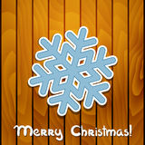 Vector christmas greeting card. Royalty Free Stock Images