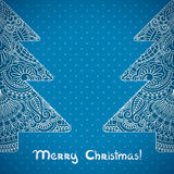 Vector christmas greeting card. Royalty Free Stock Image