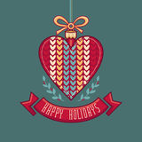 Vector. Christmas Greeting Card. Ornament decorate Stock Photos